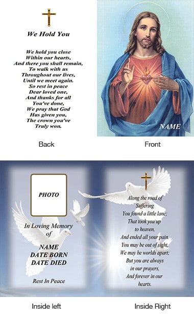 Memorial Card Style 10