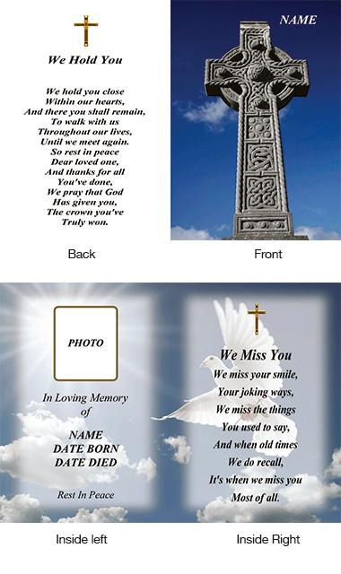Memorial Card Style 13