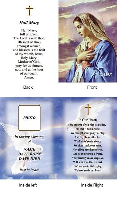 Memorial Card Style 22