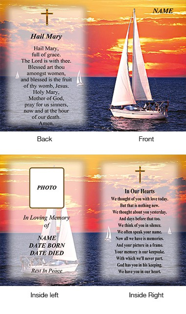 Memorial Card Style 24