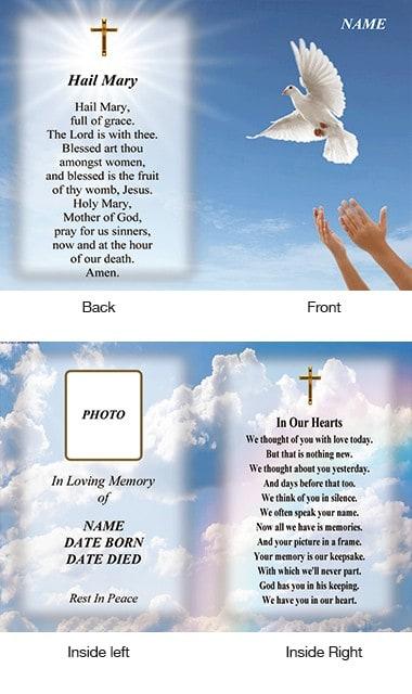 Memorial Card Style 31