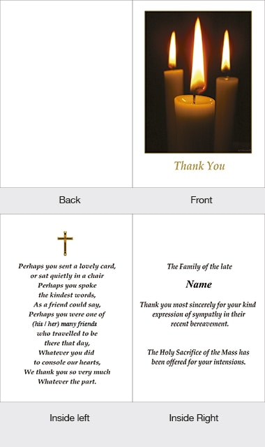Memorial Thank You Card 01
