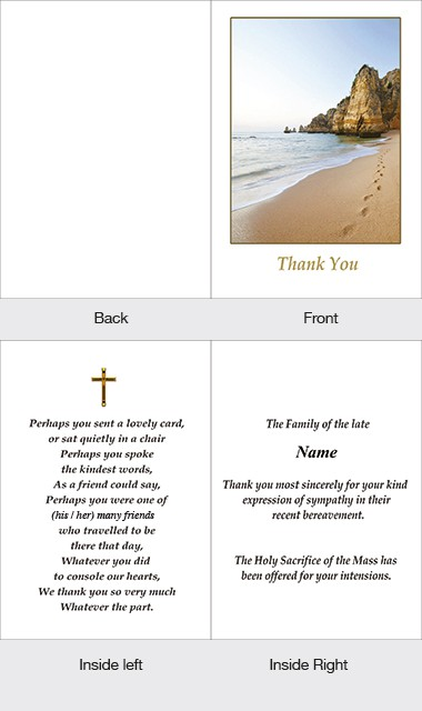 Memorial Thank You Card 21