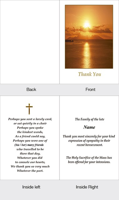 Memorial Thank You Card 22