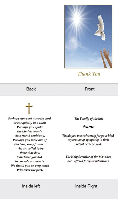 Memorial Thank You Card 25
