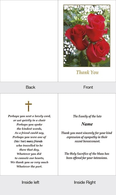 Memorial Thank You Card 27