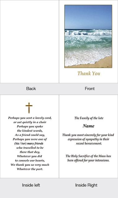 Memorial Thank You Card 05