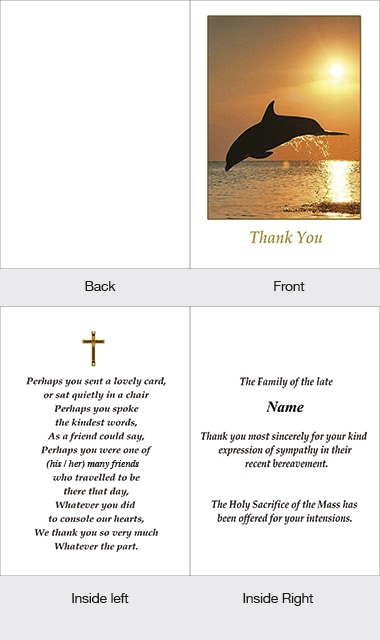 Memorial Thank You Card 08