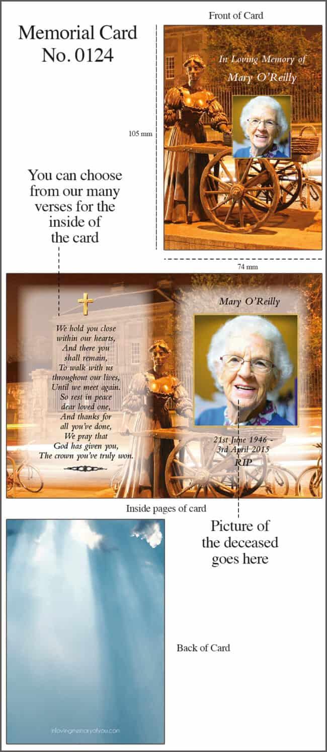Memorial Card 0124 Molly Malone