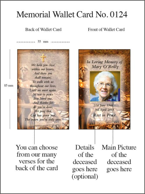 Memorial Card 0124 - Molly Malone Dublin