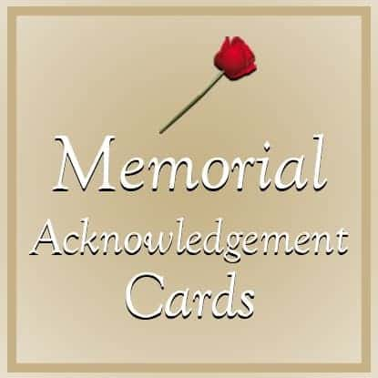 Memorial Acknowledgement Cards