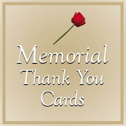 Memorial Thank You Cards