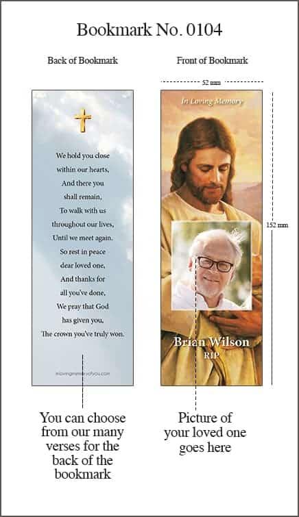 Memorial Bookmark Style 0104 Jesus