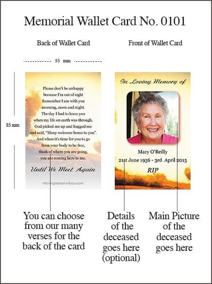 Memorial Wallet Card Style 0101 Rural Rustic