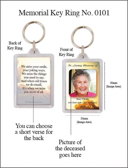 Memorial Key Ring - Style 0101 - Rural Rustic